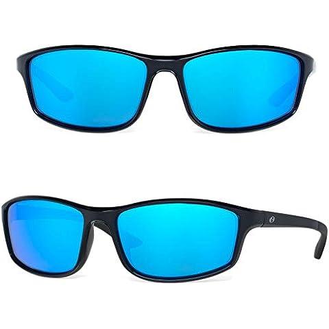 7c22ff07ab4 Bnus Paladin italy made corning glass lens blue mirrored polarized  sunglasses for men Running Driving Fishing