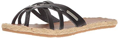 Volcom Women's Check in Espadrille Sandal Vintage Black
