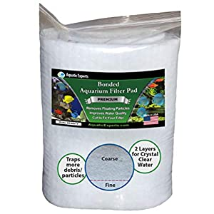 "Aquarium Filter Pad - Premium True Dual Density 12"" by 72"" by 3/4 to 1"" Aquarium Filter Media Roll for Crystal Clear Water 36"