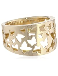 14k Yellow Gold Butterfly Ring, Size 7