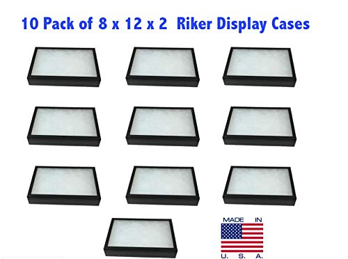 Southern Star 10 Pack of Riker Display Cases 8 x 12 x 2 for Collectibles Arrowheads & More