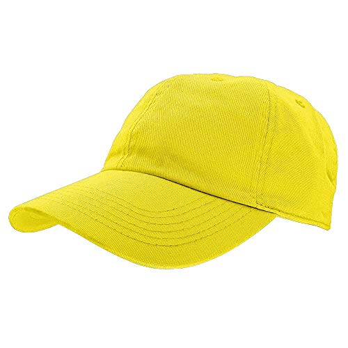 Gelante Baseball Caps Dad Hats 100% Cotton Polo Style Plain Blank Adjustable Size. 1834-Yellow ()