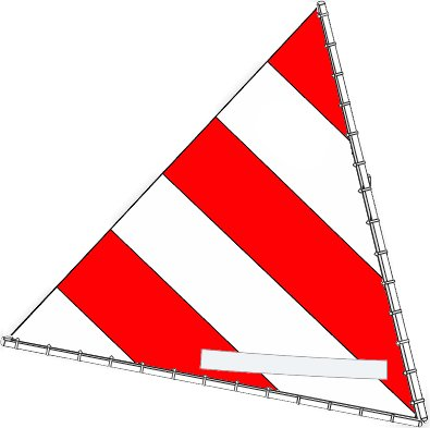 Sunfish Direct Sunfish Sail (Select Your Design) (Red/White)
