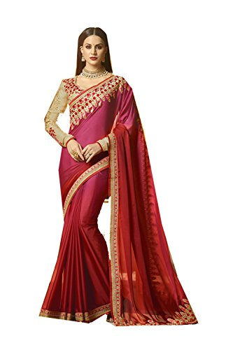 Indian Wear Women Da Designer for Magenta Mroon Party Traditional Sarees 1 Wedding Facioun Sari qSIw8xw5U