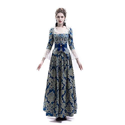 ba31b29fca7d D-RoseBlooming Victorian Civil War Renaissance Masquerade Queen Masquerade  Party Dress