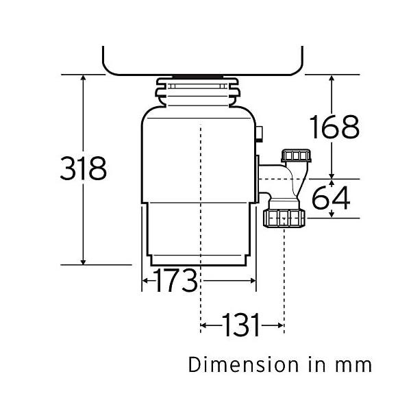 InSinkErator-77970H-Modello-56-Tritarifiuti-alimentare-con-interruttore-a-flusso-daria–nero