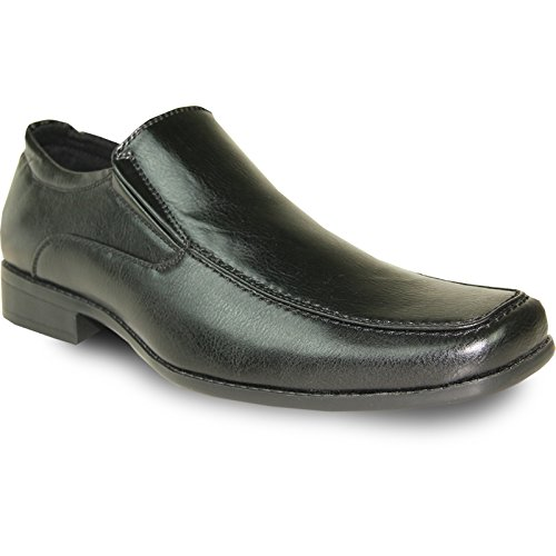 Monaco Moc (BRAVO Men Dress Shoe MONACO-2 Classic Loafer with Square Moc Toe and Leather Lining?Black 7M)