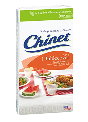 Chinet Chinet Classic White, Table Cover 3 Ply, 54x108 Inches
