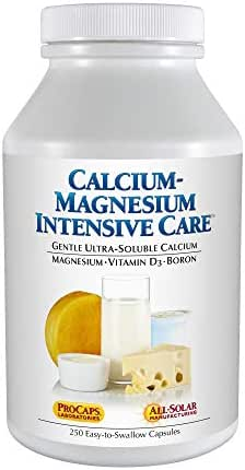 Andrew Lessman Calcium Magnesium Intensive Care – No Hard to Swallow Tablets. Small Easy to Swallow Capsules with Super Soluble Ultra-Fine Powder, Gentle to Sensitive Stomachs, 250 Capsules