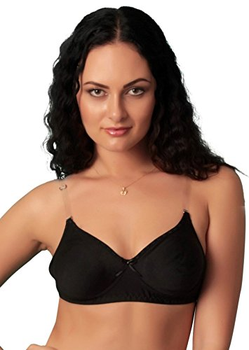 Women Every Day Bra With Full Coverage Non Padded Transparent Back Strap