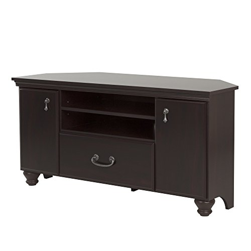 Noble Corner TV Stand - Fits TVs Up to 55'' Wide - Dark Mahogany - by South Shore