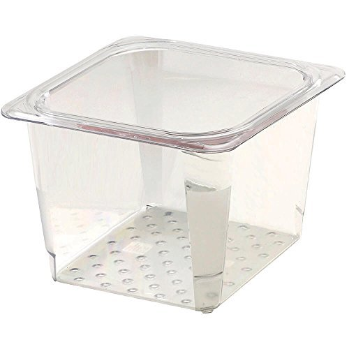 Cambro 65CLRCW135 Camwear 1/6 Size Colander Food Pan, Clear, 5