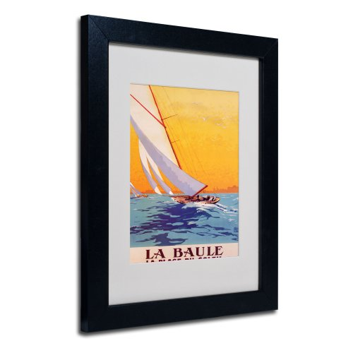 picture of Trademark Fine Art La Baule by Charles Allo Canvas Artwork in Black Frame, 11 by 14-Inch