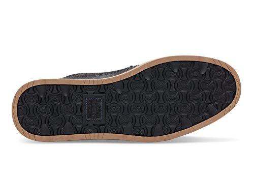Toms Searcher Boots Black Herringbone Leather 10009176 Mens 8 9HzP6f19g