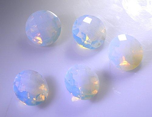 synthétiques zircone cubique opale de feu cz pierres précieuses en vrac 1 morceaux de 10 x 10 mm rondes blanches pierres précieuses facettes