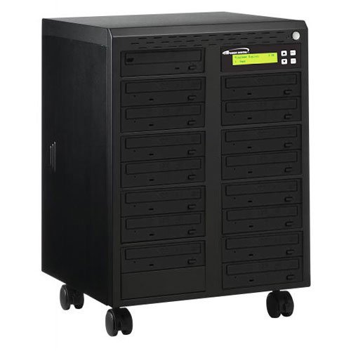 Vinpower Digital Econ-S15T-DVD-BK Econ Series 1 to 15 Target 24 x DVD CD Disc Duplicator Tower SATA Optical Drives - Black