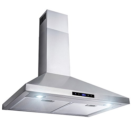 AKDY 30 Wall Mount Stainless Steel Touch Control Kitchen Range Hood Cooking Fan