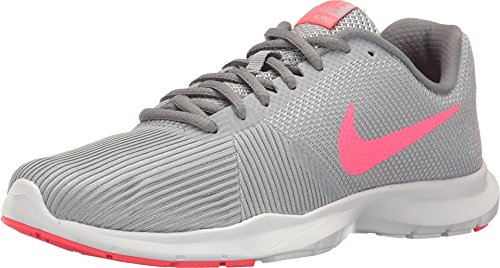 New Nike Women's Flex Bijoux Cross Trainer Grey/Racer Pink 10 (Nike Cross Trainers Women Pink)