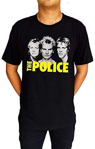 The Police Music Band Punk Rock UK Sting Andy Stewart T-Shirt Black