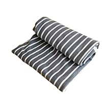 "Baby Two-Layer 100% Cotton Jersey Swaddle Blanket, 31.5""x31.5"" Soft Unisex Newborn Boys or Girls Nursing Receiving Swaddle Wrap Burp Cloth Stroller Cover Bath Towel (Grey)"