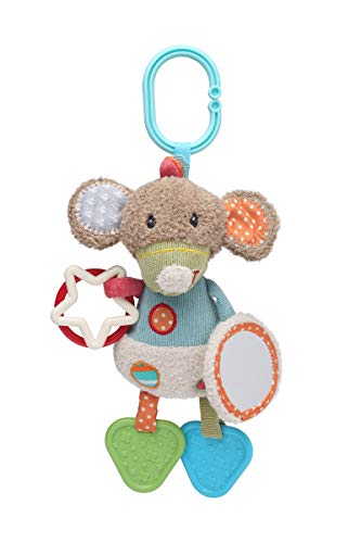 (STORKI Mouse Activity Toy with Mirror, Teether & Rattle)