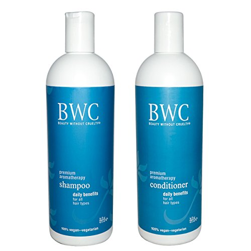Beauty Without Cruelty Daily Benefits Shampoo and Beauty Without Cruelty Daily Benefits Conditioner Bundle With 100% Pure Premium Oshadhi Essential Oils, 16 fl oz (473 ml) each
