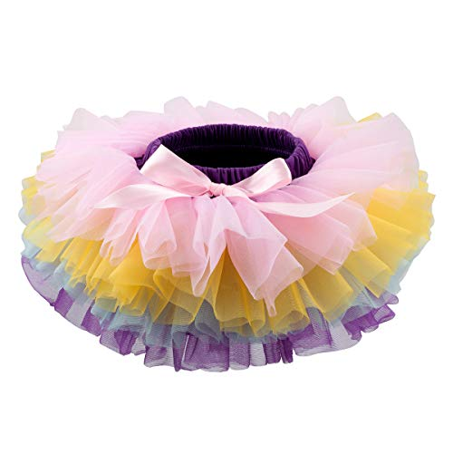 (Slowera Baby Girls Soft Tutu Skirt (Skorts) 0 to 36 Months (M: 6-12 Months, Rainbow))