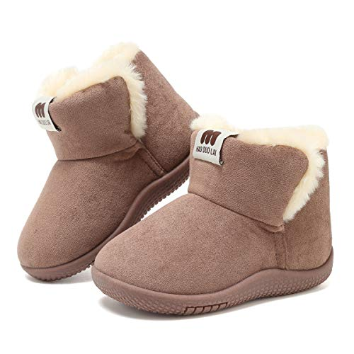 Todder//Little Kid KDHAO Baby Kids Comfortable Casual Shoes Winter Girls Boys Lovely Hiking Snow Boots