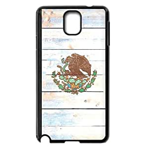 Samsung Galaxy Note 3 Cell Phone Case Black_Mexico Flag Light Wood Vhyho