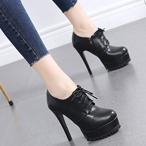 Thirty thin heels eight High shoes mouthpieces tables 11cm waterproof LBTSQ single heels laces deep fashionable joker 6qp4Attw
