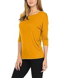Women T-Shirts Soft Rayon Jersey Top - 3/4 Dolman Sleeves, 5 Sizes(S-XXL)