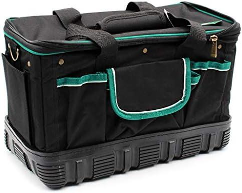 ツールオーガナイザー ショルダーストラップ(黒)とロバストとウェアラブル多機能ツールボックスの大容量16インチポータブルツールボックス ポータブルツールボックス