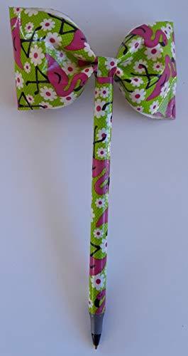 Flamingo Duct Tape Bow Pen -