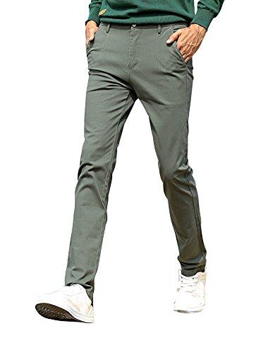 Green Khaki Flat Front - 4