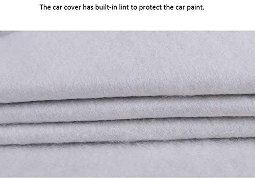 Xuping Gro/ße Fahrzeugabdeckung f/ür Ford F150 Pickup atmungsaktive Fahrzeugabdeckungen mit Riemen und Reflexstreifen Ultimativer Wetterschutz wasserdichte Silber