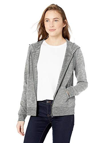 (Amazon Brand - Daily Ritual Women's Terry Cotton and Modal Full-Zip Hooded Sweatshirt, Heather Grey Space Dye, XX-Large)