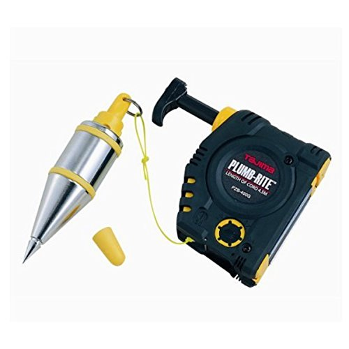 - TAJIMA Plumb Bob Setter - 14 oz (400g) Magnetic Plumb-Rite with 14.5 ft Auto Recoil Cord & Quick-Stabilizing Bob - PZB-400GP