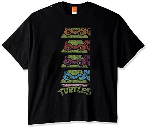 Nickelodeon Teenage Mutant Ninja Turtles Men's Big-Tall T-Shirt, Black, (Big Turtle)