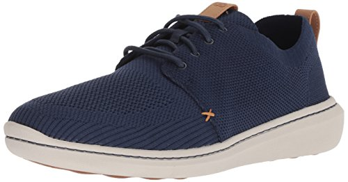 CLARKS Men's Step Urban Mix Sneaker, Navy Textile Knit, 080 M US