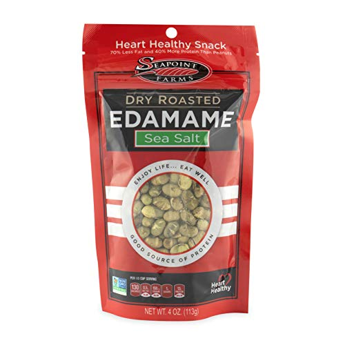 Seapoint Farms Sea Salt Dry Roasted Edamame, 4 oz Gluten-Free Snack (12 pack) ()