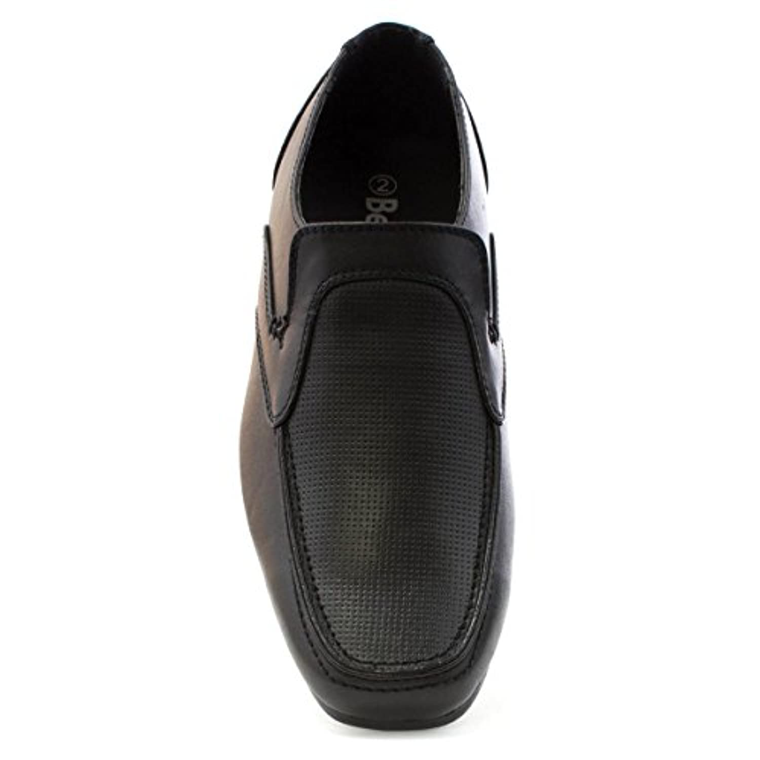 Beckett Boys Black Punch Effect Formal Shoe - Size 1 - Black