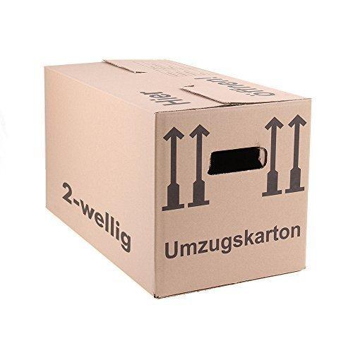 10 Umzugskartons Faltkartons Umzugskisten Movebox 2-wellig doppelter Boden Profi 600 x 330 x 340mm von A&G-heute