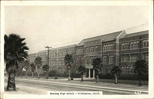 Banning High School Wilmington, California Original Vintage Postcard -