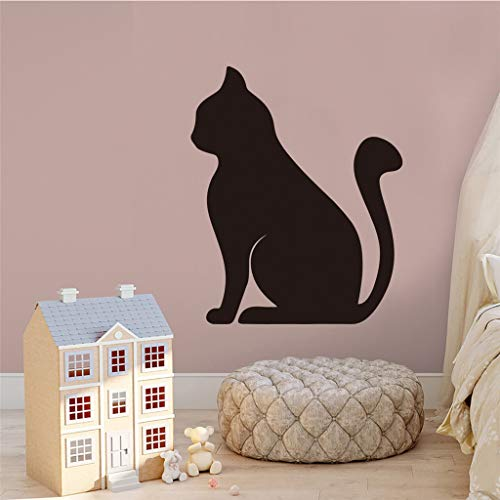 Creative Wall Window Decoration Stickers, Cute Black Cat Wall Clings Art Wall Affixed Home Xmas Decor, Kids' Bedroom Decoration Cling Stickers Christmas Gift Ornaments, 35x43cm (Black) (Creative Window Treatments For Sliding Glass Doors)