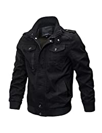 Newbestyle Men Military Style Air Force Long Sleeve Cotton Jacket