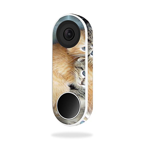 MightySkins Skin for Nest Hello Video Doorbell - Kittens | Protective, Durable, and Unique Vinyl Decal wrap Cover | Easy to Apply, Remove, and Change Styles | Made in The USA