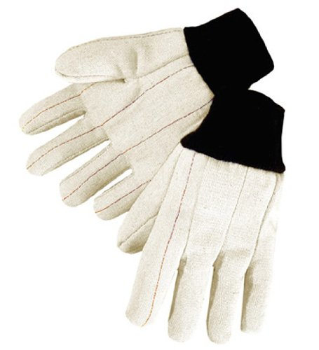 Liberty 4518BL 20 oz Canvas Nap-In Cotton Double Palm Men's Glove, Large (Pack of 12) ()