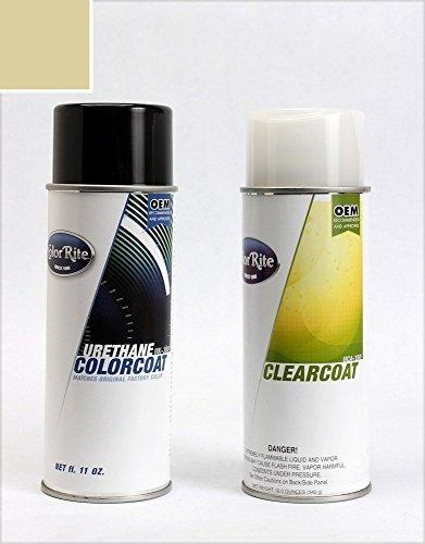 ColorRite Aerosol Honda Civic Automotive Touch-up Paint - Shoreline Mist Metallic Clearcoat YR-528M - Color+Clearcoat Package