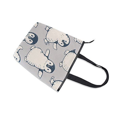 Shoulder Tote Canvas MyDaily Handbag Penguins Womens Cute MyDaily Tote Bag vqxwI5v