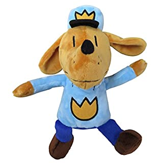 MerryMakers Dog Man Soft Plush Toy, 9.5-Inch, from Dav Pilkey's Dog Man Book Series